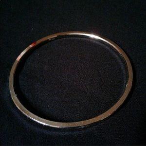 Vintage Crown Trifari Silver Bangle Bracelet